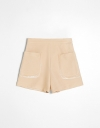 Tailored Contrast Shorts