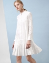 Long Sleeve Pleated Shirt Dress