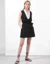 Contrast Belt Trench Dress