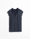 Contrast Dotted Blouse