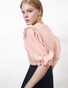 LIMITED EDITION Pleated Contrast Top