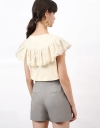 Blouse With Ruffles Embroidery