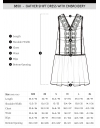 Gather Shift Dress With Embroidery
