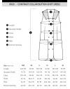 Contrast Collar Button Shift Dress