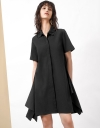 Draped Shirt Dress