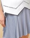 Pleated Overlay Shift Dress