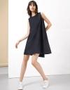 Layer Contrast A-Line Dress