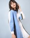 Long Sleeve Combine Oversized Shirt Dress
