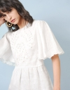 Blouse With Embroidered Edges