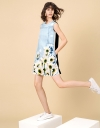 Printed Daisy Shift Dress