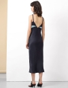 Contrast Midi Strap Dress