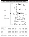 Long Sleeve Drawstring Contrast Dress