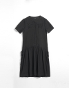 Gather Drawstring Embroidered Dress